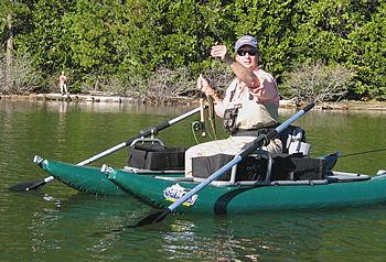 Kelly breaks in the new boat
