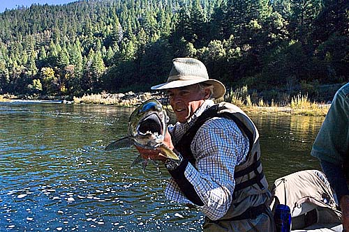 Jaws held by guide Doug Cole