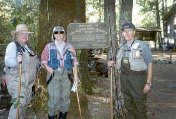 Mary, Sue, and Terry at McCloud Conservancy