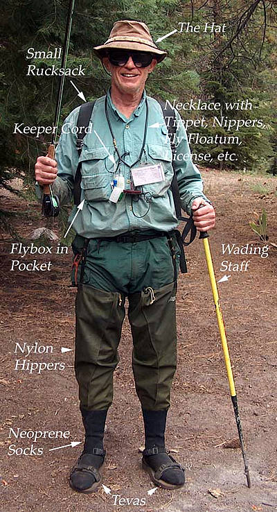 view of backpack fly fisher