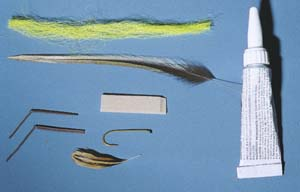 materials needed to tie fly